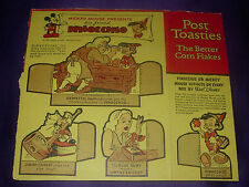 Walt Disney Pinocchio Post Toasties Cereal Box Back And Side 1939 Wdp Jiminy