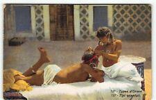"Ethnic Nude #737 ""Types d'Orient"" Women Colonialist Postcard"