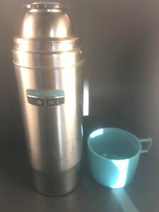 King Seeley Thermos Quart Size Vacuum Bottle Stainless Steel Vintage