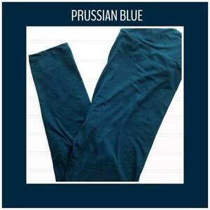 Tween Lularoe Leggings Solid Prussian Blue NWT 194326