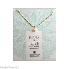 """Dogeared Sphere Potato Pearl & 14K Gold Filled Vermeil 18"""" Ball chain Necklace"""