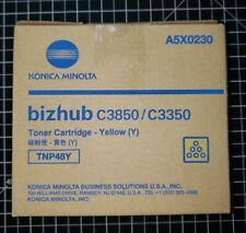 Konica Minolta TNP48Y Yellow Toner Cartridge C3850 C3350 A5X0230 Genuine