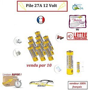 Pile 27A pour télécommande 12 volt vendu par 10