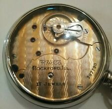 SCARCE Rockford 18 Size Two-Tone 17 jewel adj. (1910) grade 938 display case.