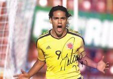 Signed Radamel Falcao Colombia Autograph Photo Monaco Athletico Madrid Porto