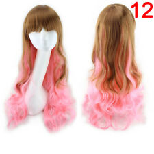 Women Long Curly Wavy Full Wig Heat Resistant Hair Cosplay Party Curly 2018