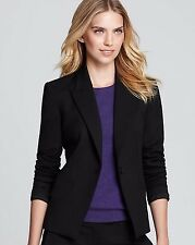 THEORY NWT $1200 AMAZING! /FREAN ELITE LUXE Flare Leg BLACK Wool Pant SUIT 00/0