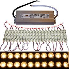 100x LED Module + 150 Watt Netzteil - 12V 5730 Chip warmweiß 3500K Injektion