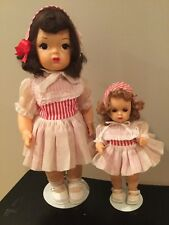 Doll Terri Lee and Tiny Terri Lee in Rare matching Outfits tagged 1950's