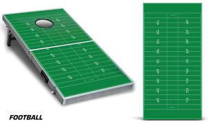Cornhole Bean Toss Game Corn Hole Vinyl Wrap Decal Football 2-Pack
