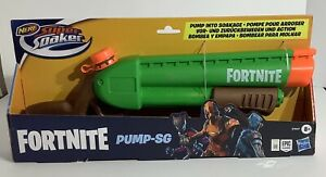 Nerf Super Soaker Fortnite Pump-SG Water Blaster, Ages 8 and Up - New -Free Ship