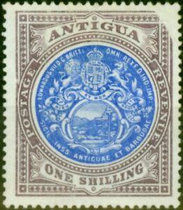 Antigua 1903 1s Blue & Dull Purple SG37var Design Missing Top Right Corner