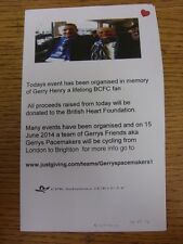 30/03/2014 At West Midlands Police: Gerry Henry Pacemakers United v Birmingham C