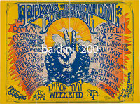LED ZEPPELIN - HIGH QUALITY EARLY VINTAGE CONCERT POSTER - LOOKS AWESOME FRAMED