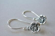 U&C Sundance .925 Sterling Silver Cute Tiny Flowers Earrings Artisan Very Petite