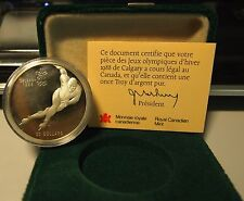 CANADA XV OLIMPIADE PATTINAGGIO VELOCE  20 Dollars Calgary 1988 ARGENTO Proof