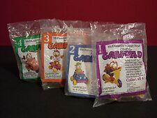 Garfield & Odie Vintage 1988 McDonald's Happy Meal Premium Toy Set of 4 Sealed
