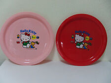 SANRIO- HELLO KITTY, KEROKEROPPI-PLASTIC PLATE -JAPAN