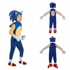 Children's Cosplay Costumes Boys' Fancy Dress Cos Movie Sonic Hedgehog Jumpsuit