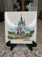 Vintage 1970's Walt Disney world tile trivet Cinderella Castle ceramic