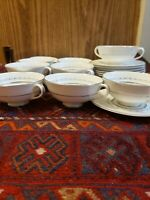 Royal Doulton Tiara Pattern Cream Soup Bowls 20pcs Set Of 10 England H4915