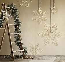 "Restoration Hardware Gold Starry Lights Snowflake 12"""