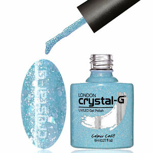 CRYSTAL-G - D09 LIGHT BLUE - DIAMOND GLITTER SHIMMER UV LED GEL NAIL POLISH