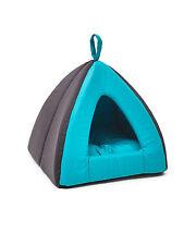 Dôme Tipi   pour Chien / Chat  Niche Tente Lit Corbeille Bleu  35 x 35 x H 30 cm