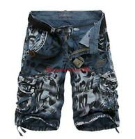 New Mens summer Cotton Army military Cargo Combat Camouflag Casual Shorts Pants