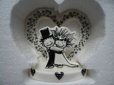 Nuevo Wedding Cake Topper-Estatuilla De Porcelana Diversión novia y el novio boda pareja