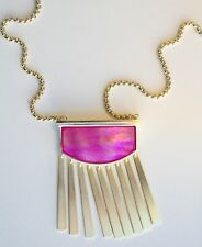 New- KENDRA SCOTT- Ellen Long Pendant Necklace In Magenta Pearl
