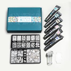 10psc Set Nail Stamping Kit Gel Print Nail Art Templates Stencils Painting Tools