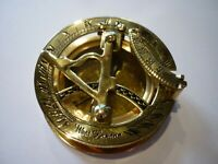 REPLICA MARITIME NAUTICAL VINTAGE STYLE SUNDIAL POLISHED BRASS COMPASS AU STOCK