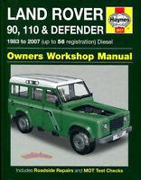 LAND ROVER SHOP MANUAL SERVICE REPAIR BOOK DEFENDER 90 110 HAYNES BOOK CHILTON