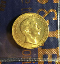 1897 A GOLD GERMAN STATE PRUSSIA 20 MARK 7.954 GRAMS WILHELM COIN BERLIN MINT