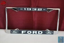 1932 Ford Car Pick Up Truck Front Rear License Plate Holder Chrome Frame New