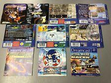 Sega Dreamcast Inlays - Nightmare Creatures , Star Wars , Magforce , Sonic
