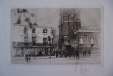 WILLIAM WALCOT Original SIGNED ETCHING 1924 CHELSEA Old Church London