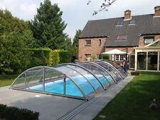 Schwimmbeckenüberdachung Poolüberdachung Poolabdeckung Klasik Clear C ELOX