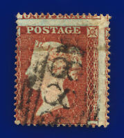 1854 SG17 1d Red-Brown C1(1) Misperf Winchester Good Used Cat £35 cwzn