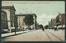 IN South Bend LITHO 1913 MAIN STREET Looking NORTH fm JEFFERSON Wagons STORES