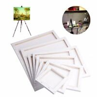 White Blank Square Artist Canvas Wooden Board Frame Primed Oil Acrylic Paint DIY