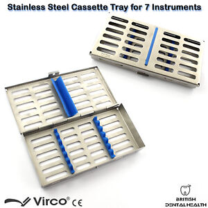 Stainless Tray Cassette for 7 Pcs Instruments Surgical Dental Implant Lab CE