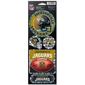 Jacksonville Jaguars Prismatic Decal Sticker Set