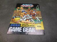 Arch Rivals: The Arcade Game (Sega Game Gear, 1992) Manual