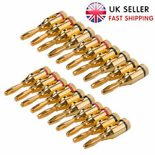 More details for 40 pack gold plated speaker banana plugs closed screw type for home theater
