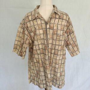 Tori Richards Hawaiian Made In Hawaii SIZE LARGE Men's Shirt 100% Cotton