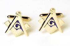 NEW Men's Masonic Square and Compass Cufflinks Cuff Links Boxed Mason Set