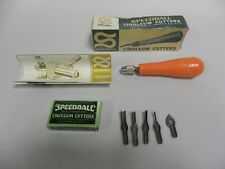 UNUSED Vintage Hunt Mfg Speedball No. 4131 Linoleum Cutters (A4)