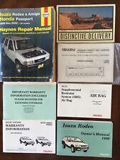 98-02 Isuzu Rodeo Owners Manual, Haynes Repair Manual, Other Manuals